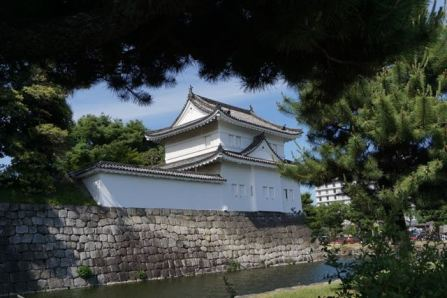 One of the watch towers in Nijo Castle