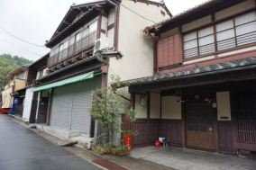 There are a number of these wooden shops outside Ginkakuji