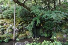 A small waterfall in Ginkakuji