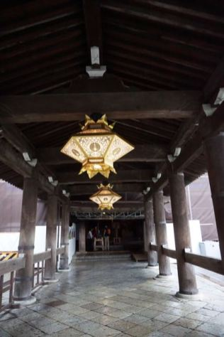 The corridor leading into Hondo and the Kiyomizu Stage