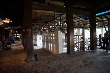 The Kiyomizu Stage is under restoration works