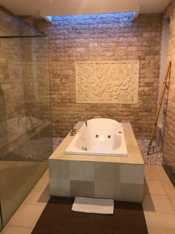 Bathtub in the bathroom