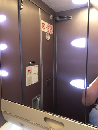 Hollywood style mirrors in the lavatory