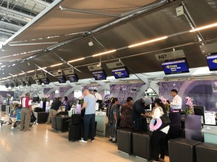 Business Class check-in counters