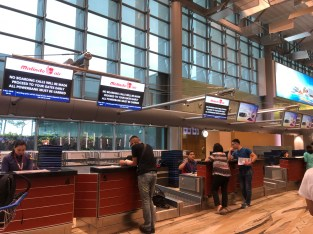 Malindo Air check-in counters
