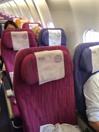 Economy Class cabin seats