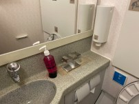 Sink area in the Economy Class lavatory