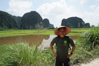 Me at the countryside of Ninh Binh
