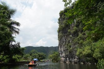 We saw amazing views of the limestone mountains on the boat