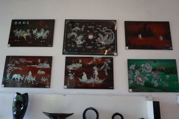 Some of the artworks on sold made from the oysters