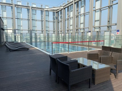 Outdoor pool on the rooftop