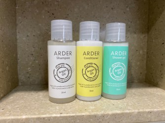 Bathroom amenities in the bathroom