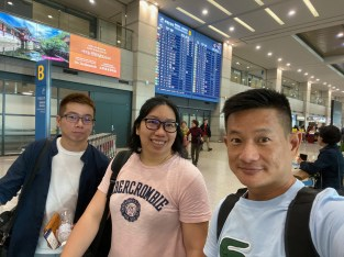 We collected our luggage and ready to head to Gimpo Airport