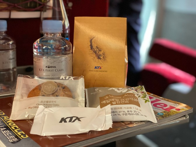 Snacks provided to First Class passengers