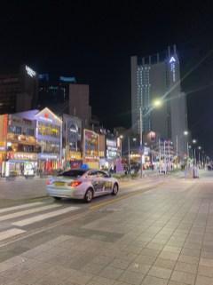Gunam Street in Haeundae has numerous restaurants