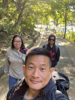 Walking to Mundong Waterfall