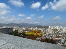 We got a good view of Seoul from Naksan Park