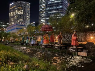 Korean folklore lanterns at Cheonggyecheon Stream