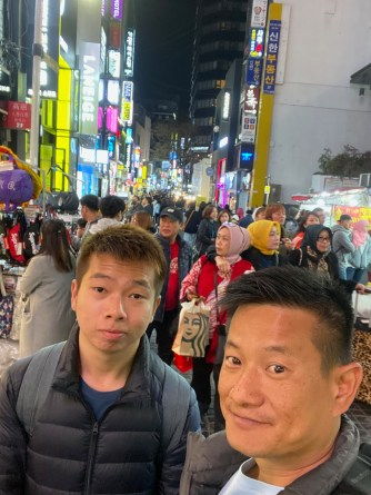 Wefie at Myeongdong