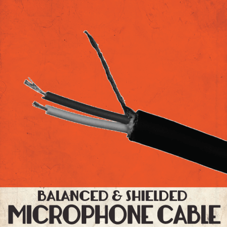 Balanced and Shielded Microphone Cable, Bulk