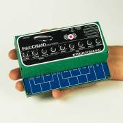 Macchiato Mini Synth shown in DIY cardstock cabinet