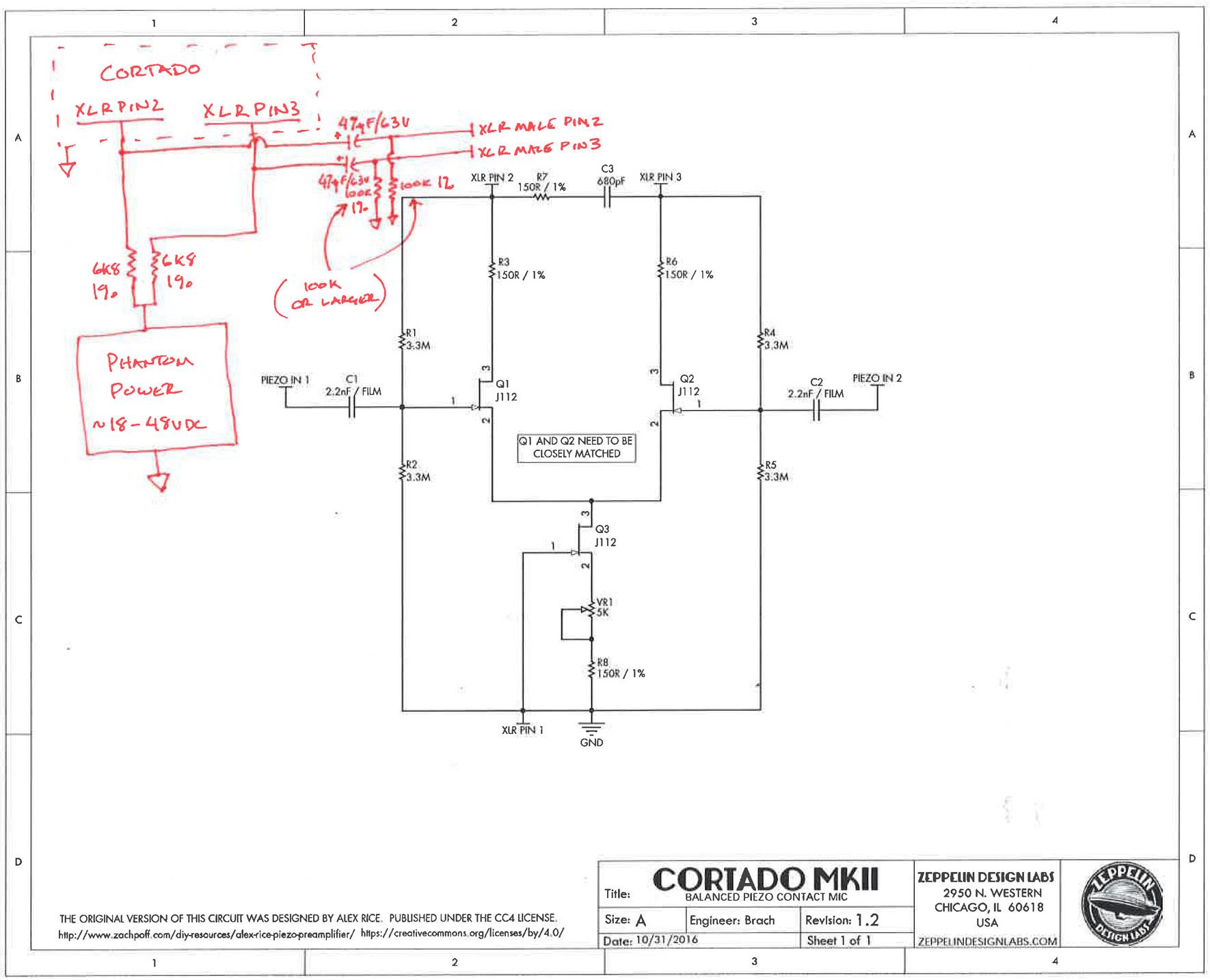 hight resolution of cortado phantom power circuit