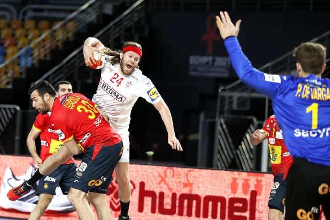 Handball WM 2021 Ägypten – Dänemark vs. Spanien – Mikkel Hansen – Copyright: © IHF / Egypt 2021