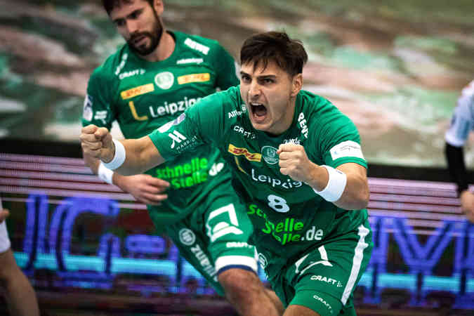 Lucas Krzikalla – SC DHfK Leipzig – Handball Bundesliga – Foto: Klaus Trotter