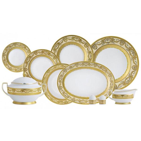 Фарфор Royal Gold - Набор для Ужина 6 Персон Кремовый (25 Единиц) от Цептер