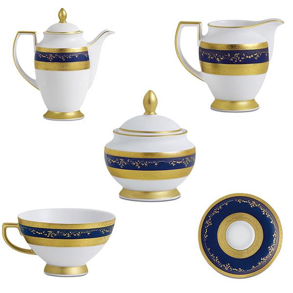 Фарфор Royal Gold - Кофейный Набор 12 Персон Кобальт (27 Единиц) от Цептер
