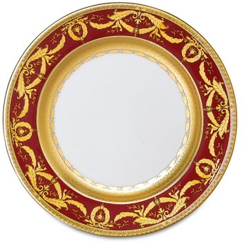 Фарфор Imperial Gold - Подставки под тарелки 32 см Бордо (6 Единиц) от Цептер