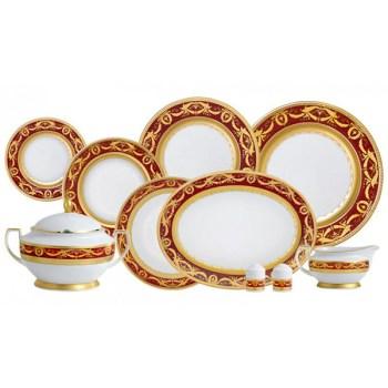 Фарфор Imperial Gold - Набор для Ужина Дополнение Бордо (18 Единиц) от Цептер