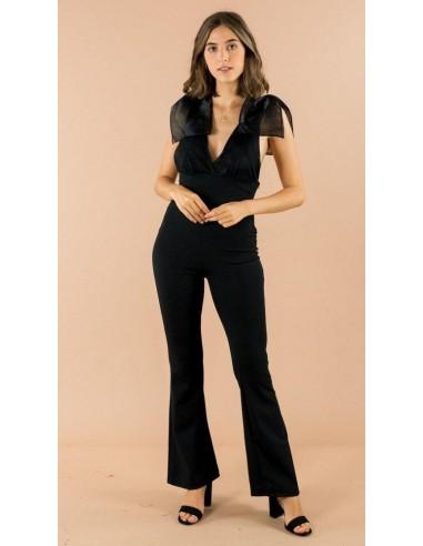 combinaison pantalon epaule nœud