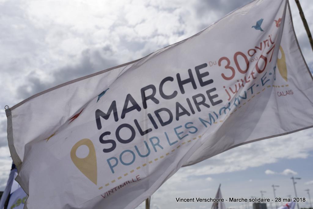 Marche solidaire pour les migrant.e.s à Mâcon.