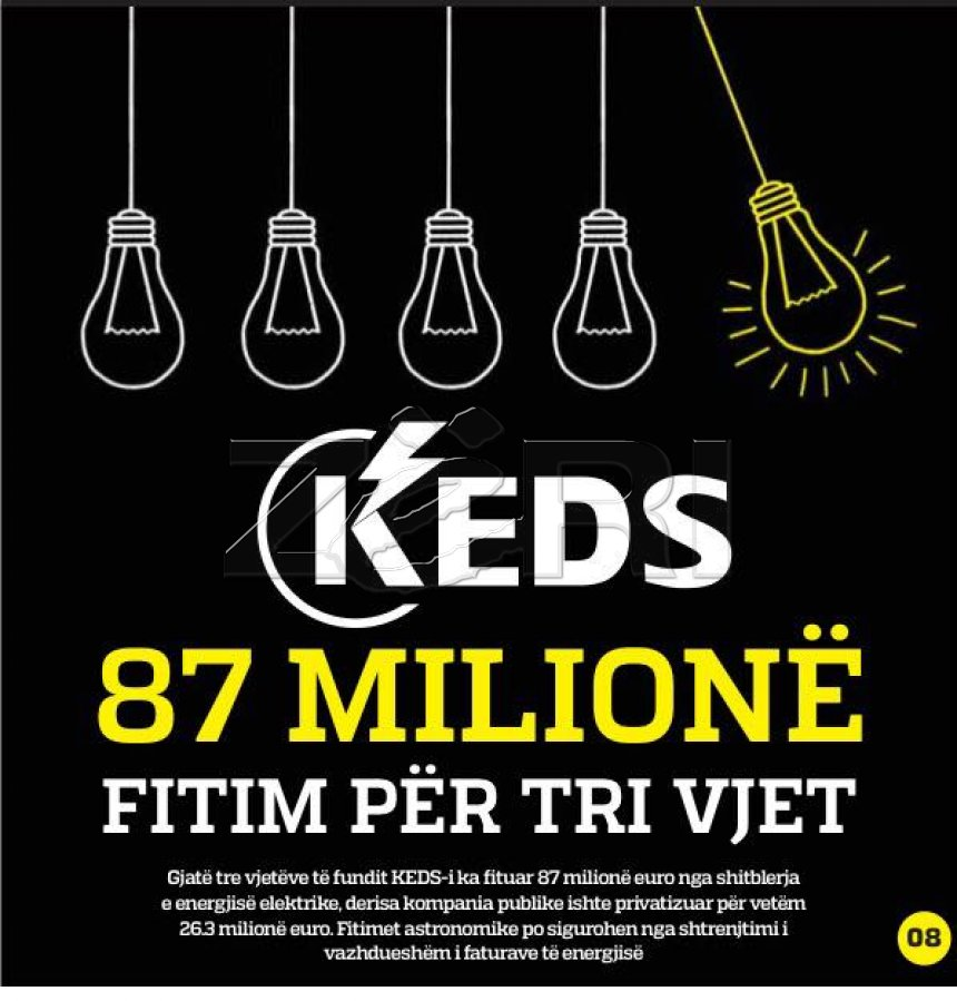 KEDS for three years 87 million euros profit