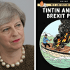 EU mocks Britain with anti-Brexit Tintin poster on wall of Brussels war room