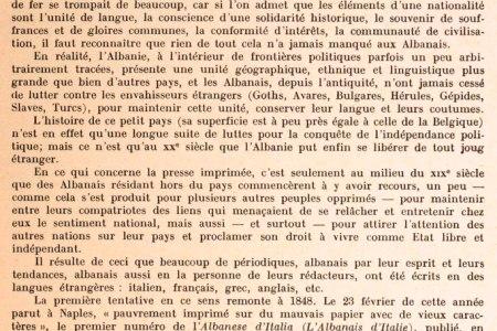 NJË STUDIM I RRALLË FRANCEZ PËR SHTYPIN SHQIPTAR TË VITEVE 1848 – 1939