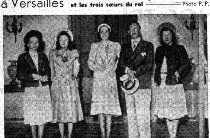 LE PETIT PARISIEN (1939) / MBRETI ZOG NË VERSAILLES PËRBALLË DYZET GAZETARËVE DHE REPORTERËVE FOTOGRAFË : « SHQIPËRIA ËSHTË NJË EMËR I FORMUAR NGA FJALA ILIRIA, E CILA NË GJUHËN TONË DO TË THOTË LIRI »