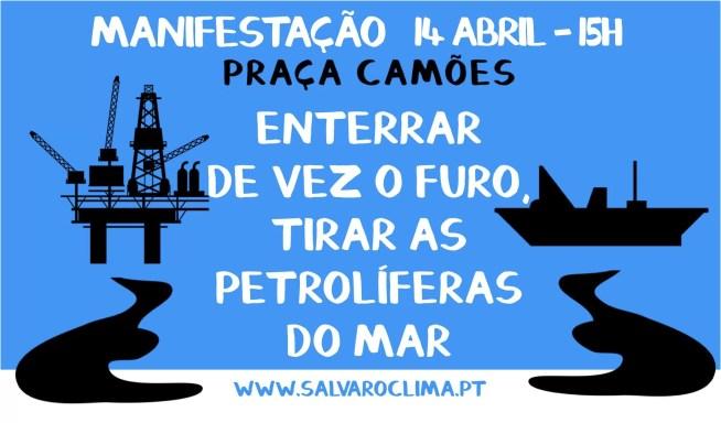 Manifestação contra o furo de prospeção de petróleo ao largo de Aljezur – por um oceano limpo e sustentável