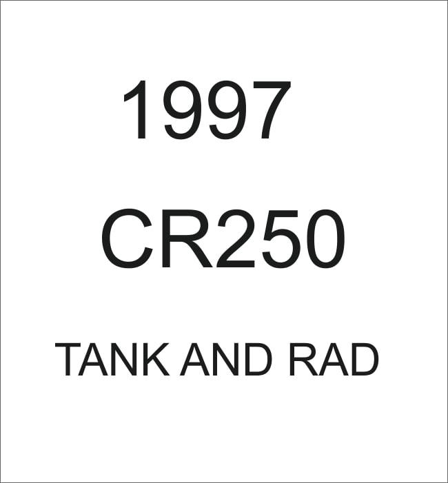 HONDA 1997 CR250 TANK AND RAD DECALS OEM STYLE