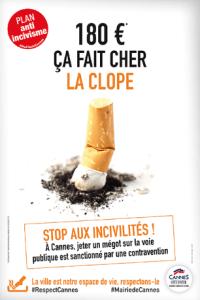 180€, ça fait chère la clope - Campagne de communication de la ville de Cannes