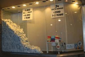 3800 couches jetables sur 1 ans contre 24 couches lavables sur 1 à 3 ans