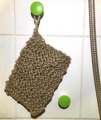 Gant exfoliant tricoté en ficelle