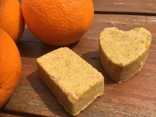 DIY shampoing solide orange