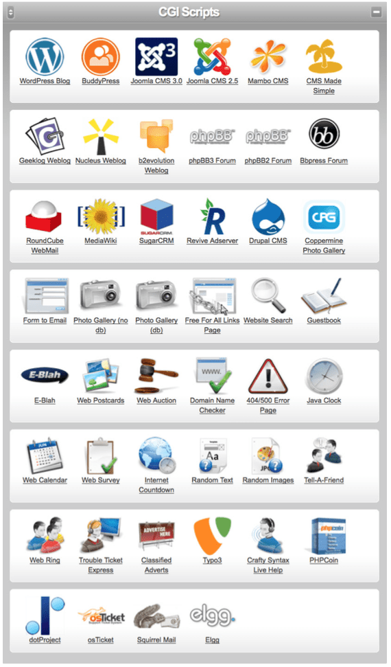 cp cgi scripts screen
