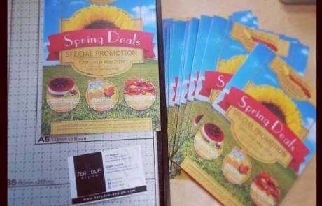 flyer design printing cutting zero due design