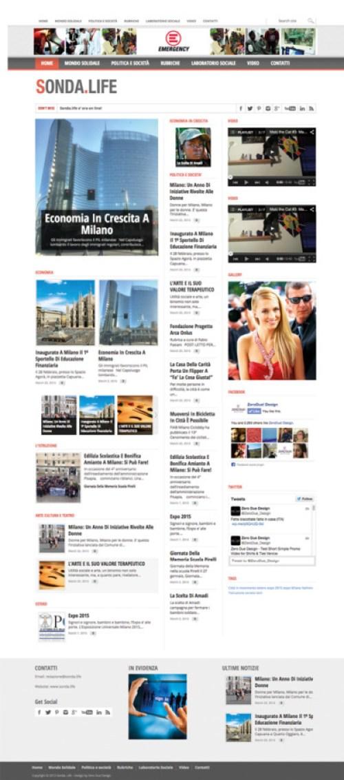 sonda.life, web design, news portal