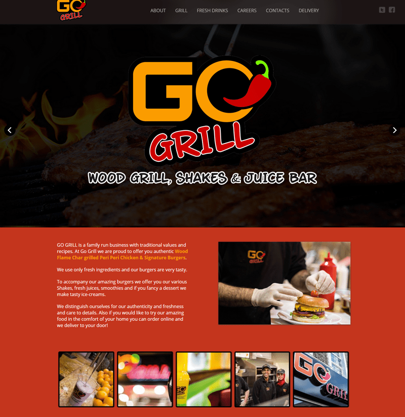 gogrill website design london
