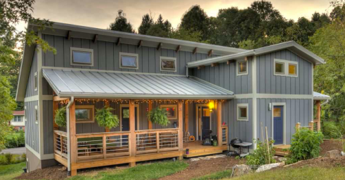 This Zero Energy Home in North Carolina does not lack in amenities, comfort or aesthetics.