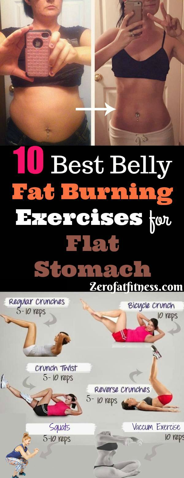 10 Best Belly Fat Burning Exercises for Flat Stomach